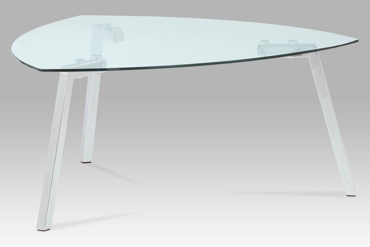 Autronic Konferenční stolek 100x100x45, čiré sklo / chrom, GCT-508 CLR