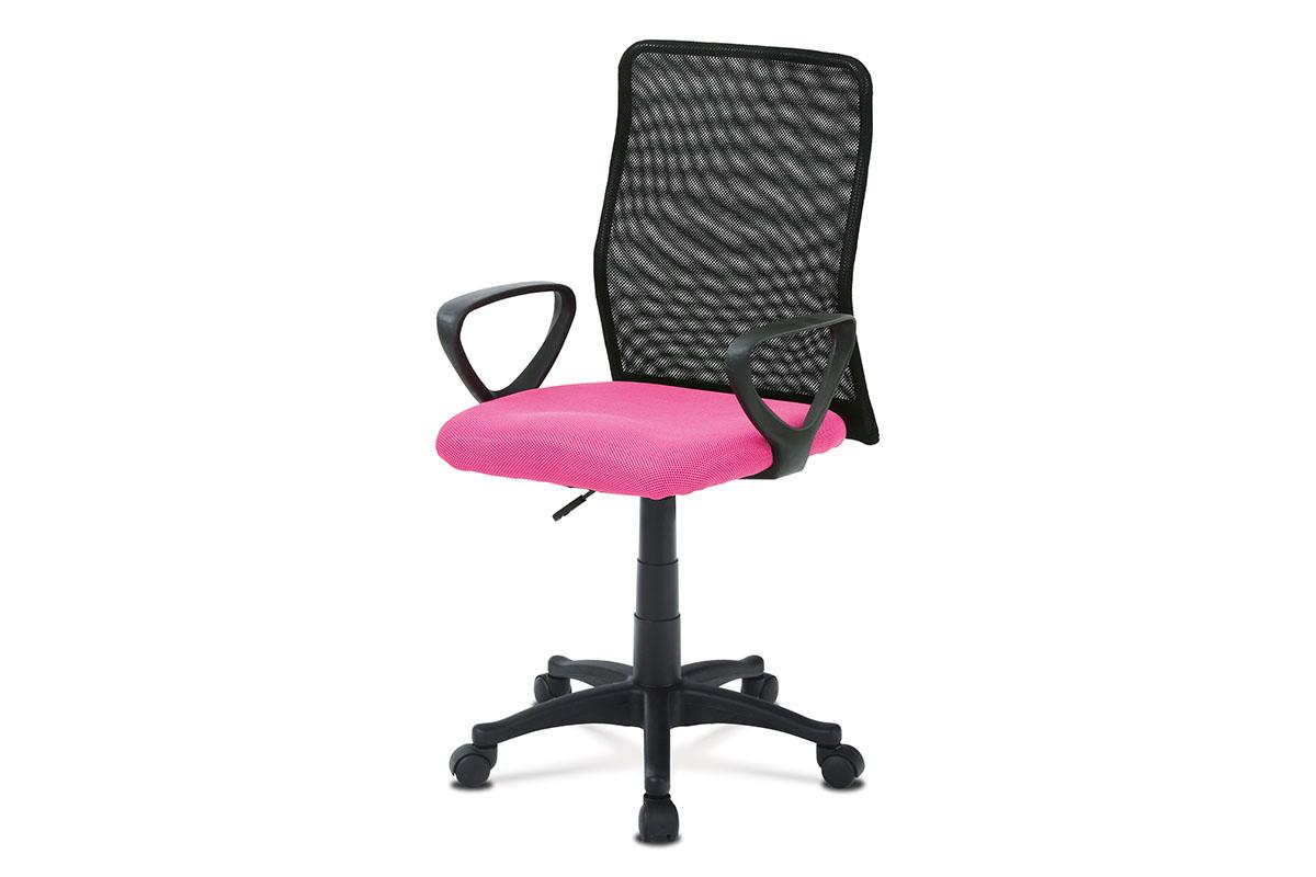 Kancelářská židle, látka MESH růžová / černá, plynový píst, KA-B047 PINK