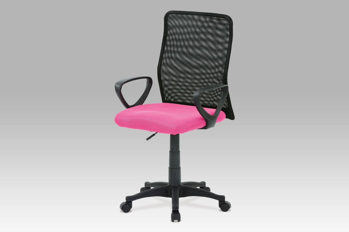 Autronic Kancelářská židle, látka MESH růžová / černá, plynový píst, KA-B047 PINK