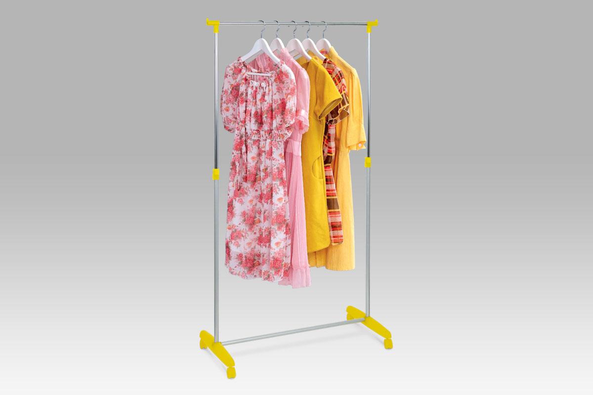 Autronic Stojan na šaty, žlutá/chrom, 51379 YEL