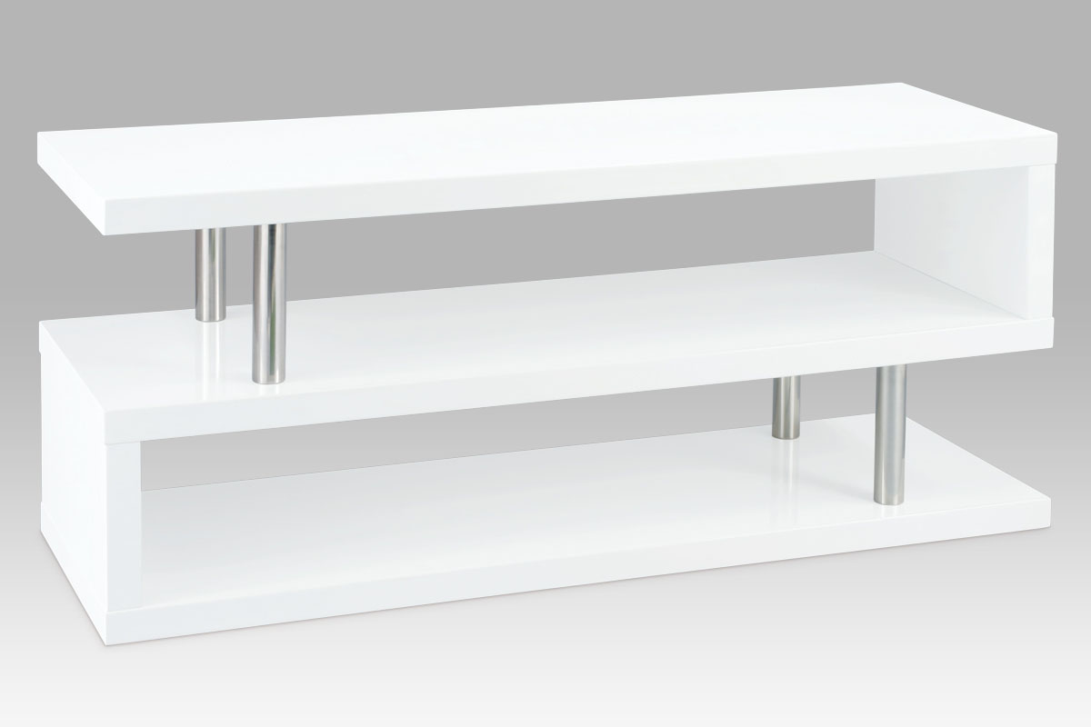 Autronic TV stolek, chrom/vysoký lesk bílý, ATV-2020 WT