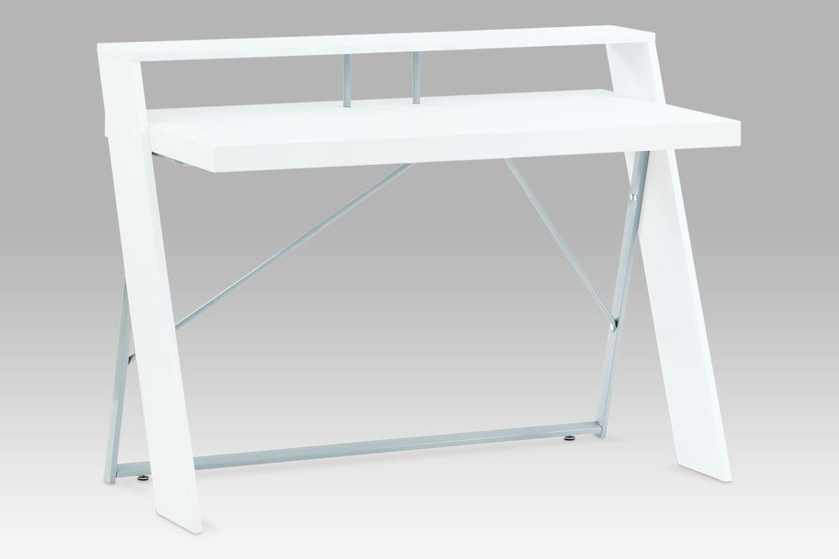 Autronic Psací stolek 120x60x90, bílá / šedý lak, HPC-102 WT DOPRODEJ