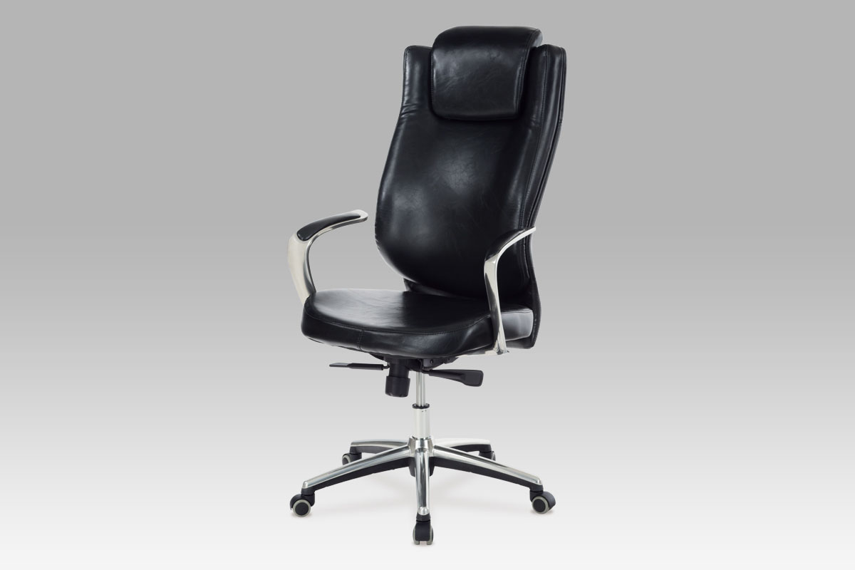 Autronic Kancelářská židle, koženka černá, KA-H028 BK