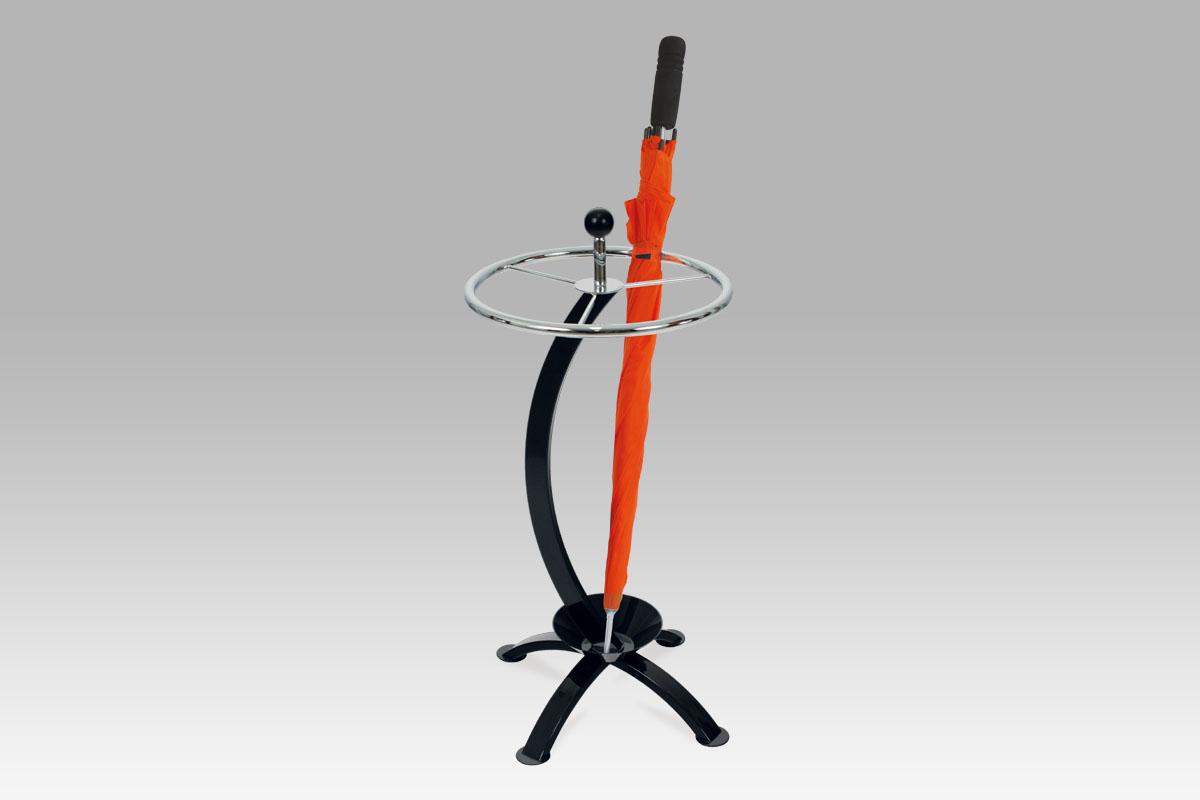 Autronic Stojan na deštník, chrom / černá, 83546-21 BK