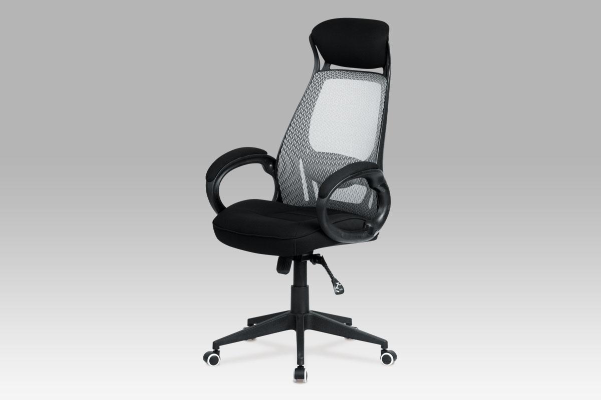 Autronic Kancelářská židle, šedá mesh/černá látka, KA-G109 BK