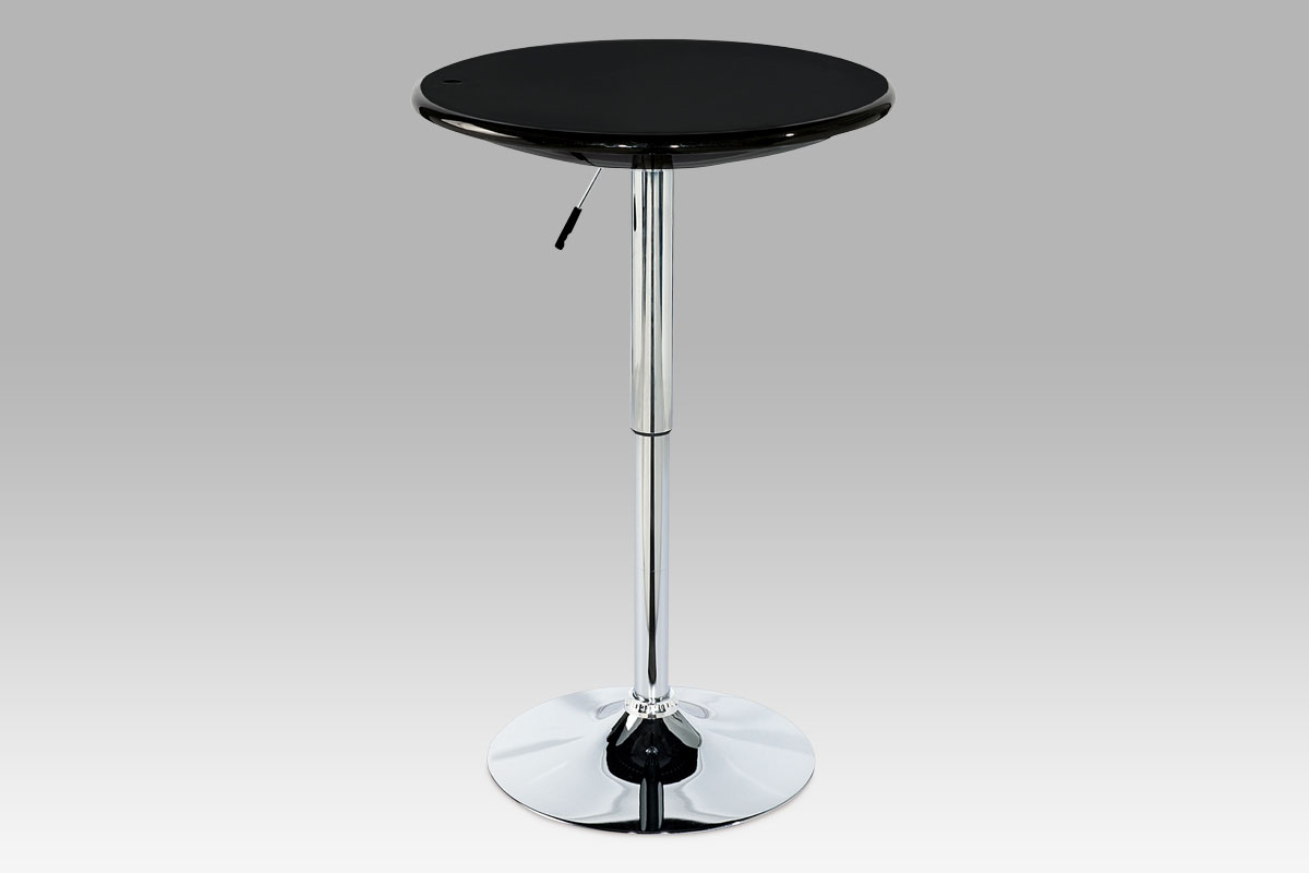 Autronic Barový stůl, černá / chrom AUB-5010 BK