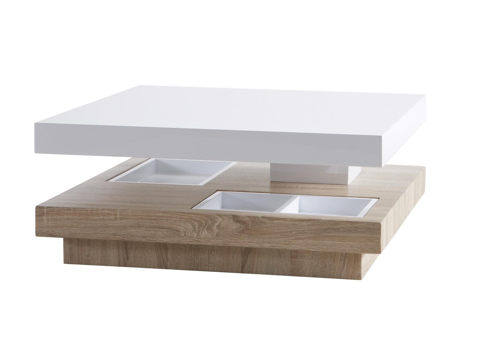 DEMEYERE TERN, konferenční stolek, dub hrubý/bílý lesk