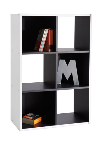 DEMEYERE GRIFIT, knihovna 6V, černá/bílá