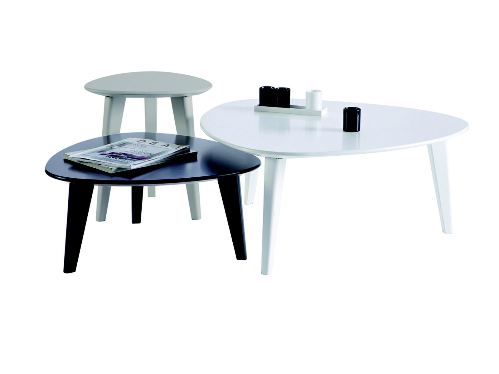 DEMEYERE STINE, sada tří stolků, černá/šedá/bílá