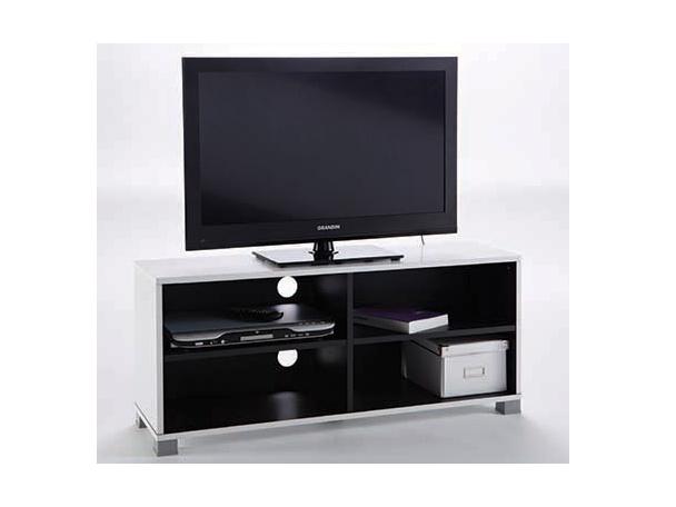 DEMEYERE GRIFIT, TV stolek, černá/bílá