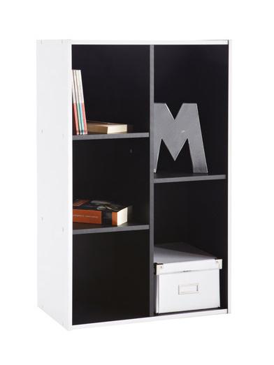 DEMEYERE GRIFIT, knihovna 5V, černá/bílá