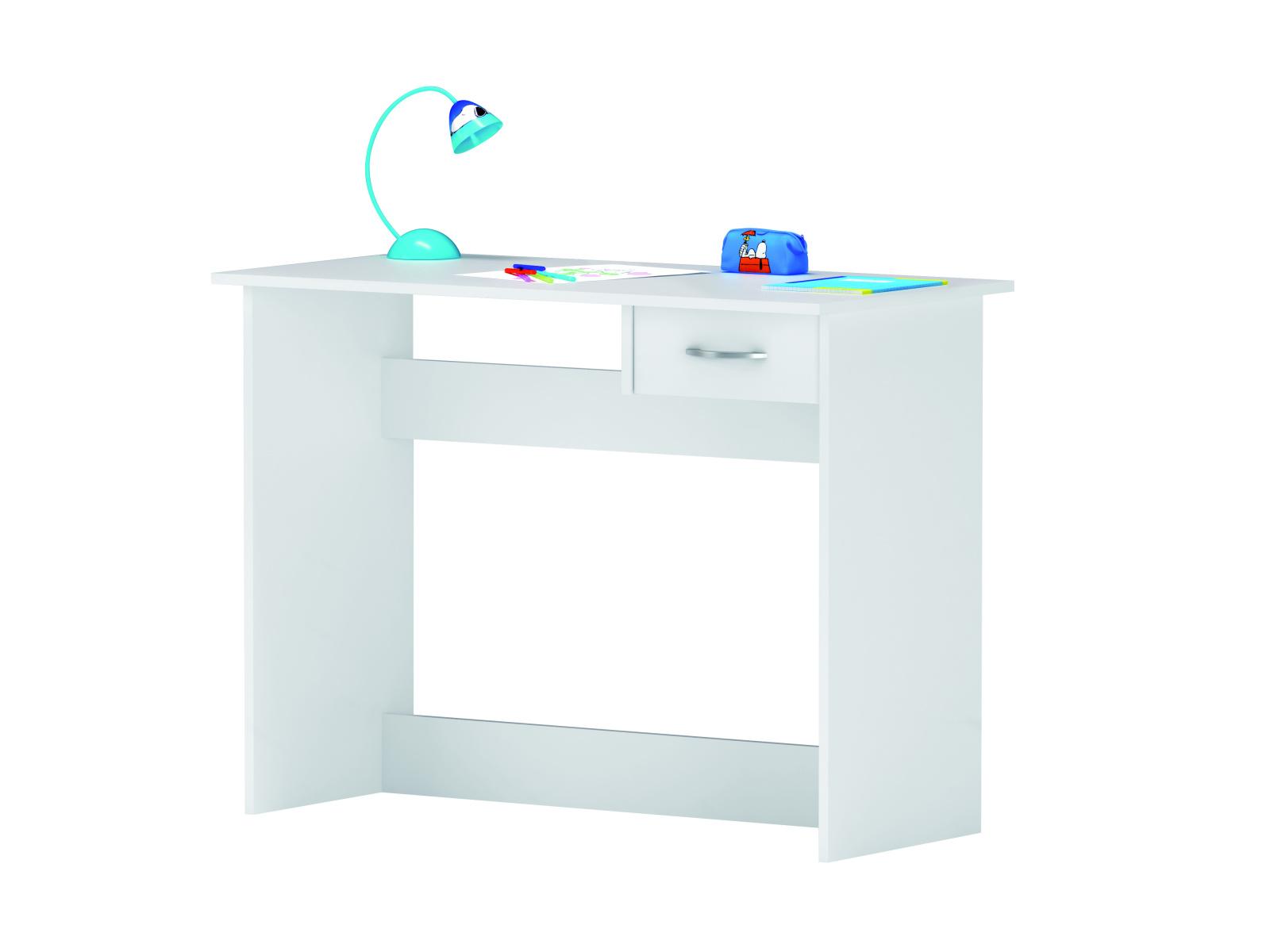 DEMEYERE Studentský psací stůl se zásuvkou ALPEN, bílý