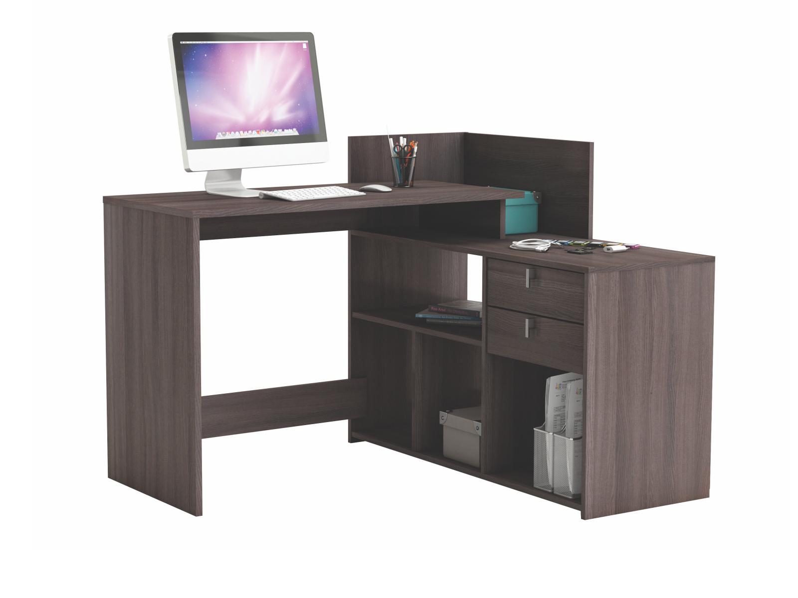 DEMEYERE VISSTA, univerzální rohový psací stůl, dub vulcano