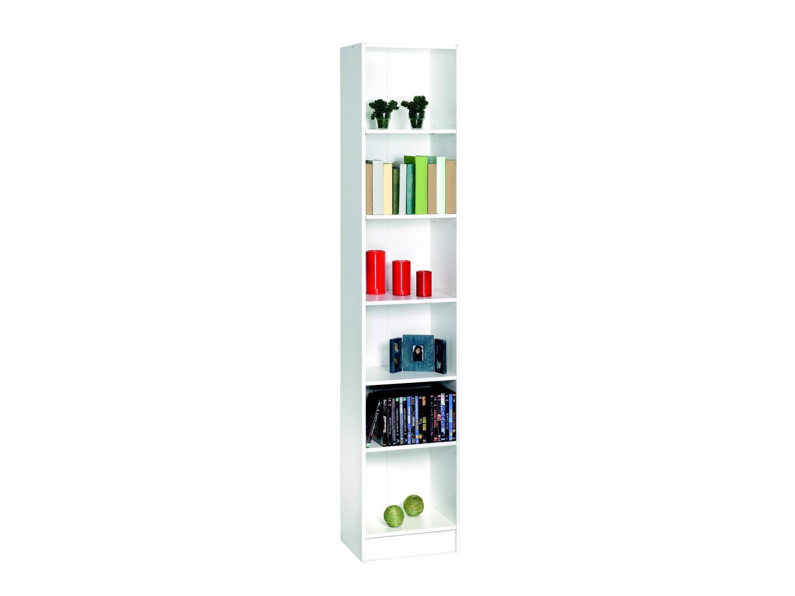 DICO, regál šíře 40x200 cm, bílá, regál šíře 40x200 cm, bílá