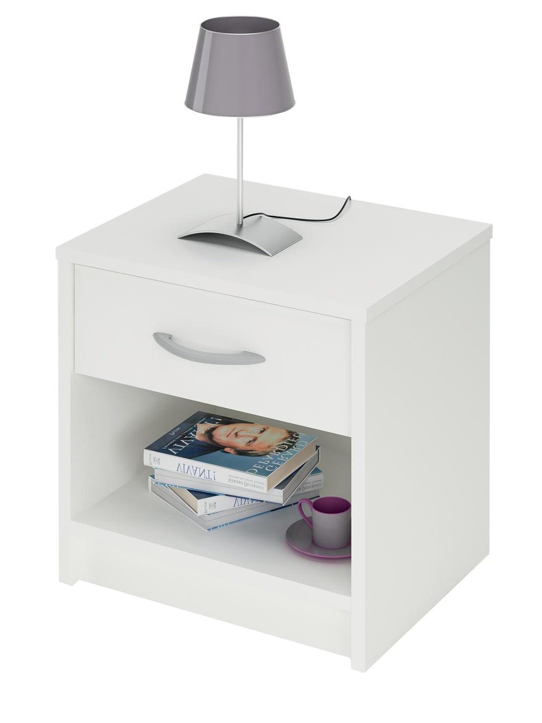 DEMEYERE ISSIS, noční stolek, bílá
