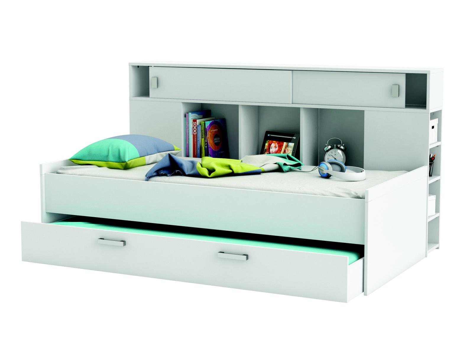 DEMEYERE SCHERWOOD, postel 90x200 cm s přistýlkou, bílá