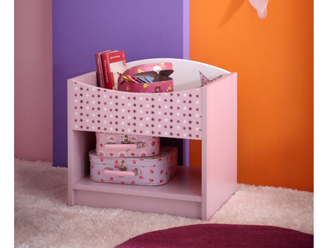 DEMEYERE FEI, noční stolek, fialková