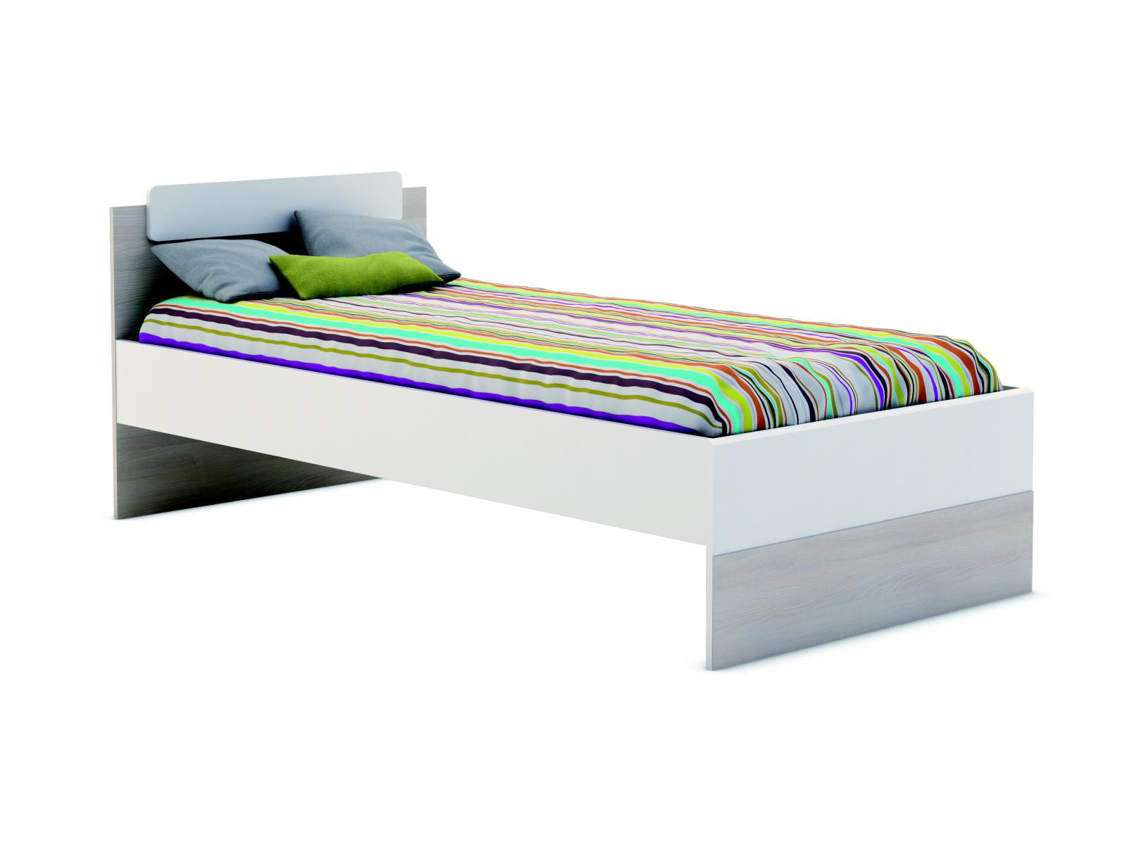 DEMEYERE GAIME, postel 90x190 cm, akát/bílá