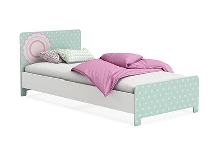 DEMEYERE SUSETTE, postel 90x200 cm, bílá DOPRODEJ