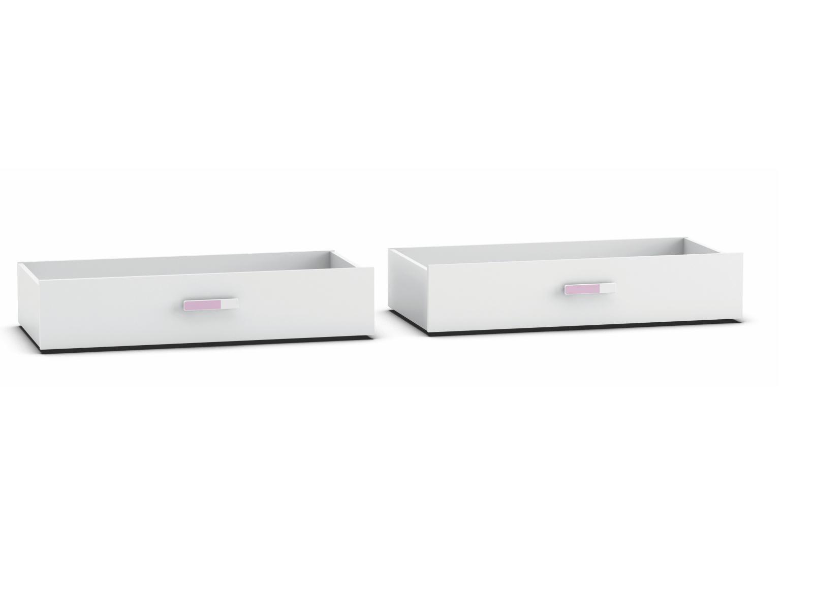 DEMEYERE SVITCH, 2 zásuvky pod postel, bílá/růžová nebo modrá