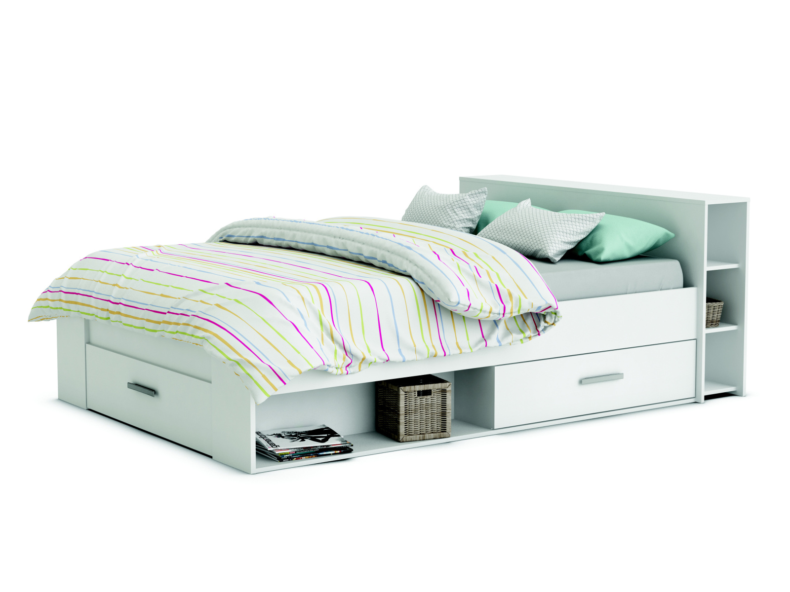 DEMEYERE POKET, postel 140x200 cm, bílá
