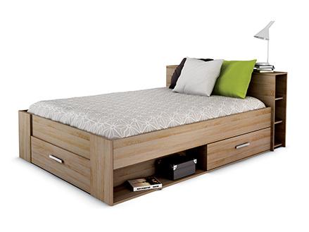 DEMEYERE POKET, postel 140x200 cm, dub sonoma
