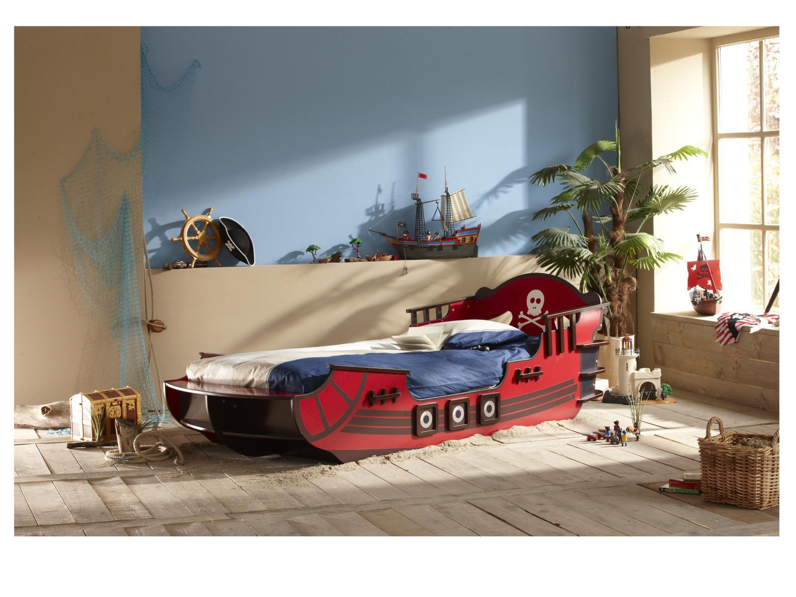 DEMEYERE CRAZY SHARK, postel 90x190/200 cm, vínová