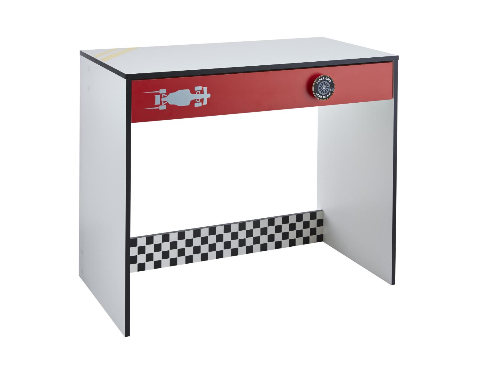 DEMEYERE Dětský psací stůl ROKET, bílá/červená