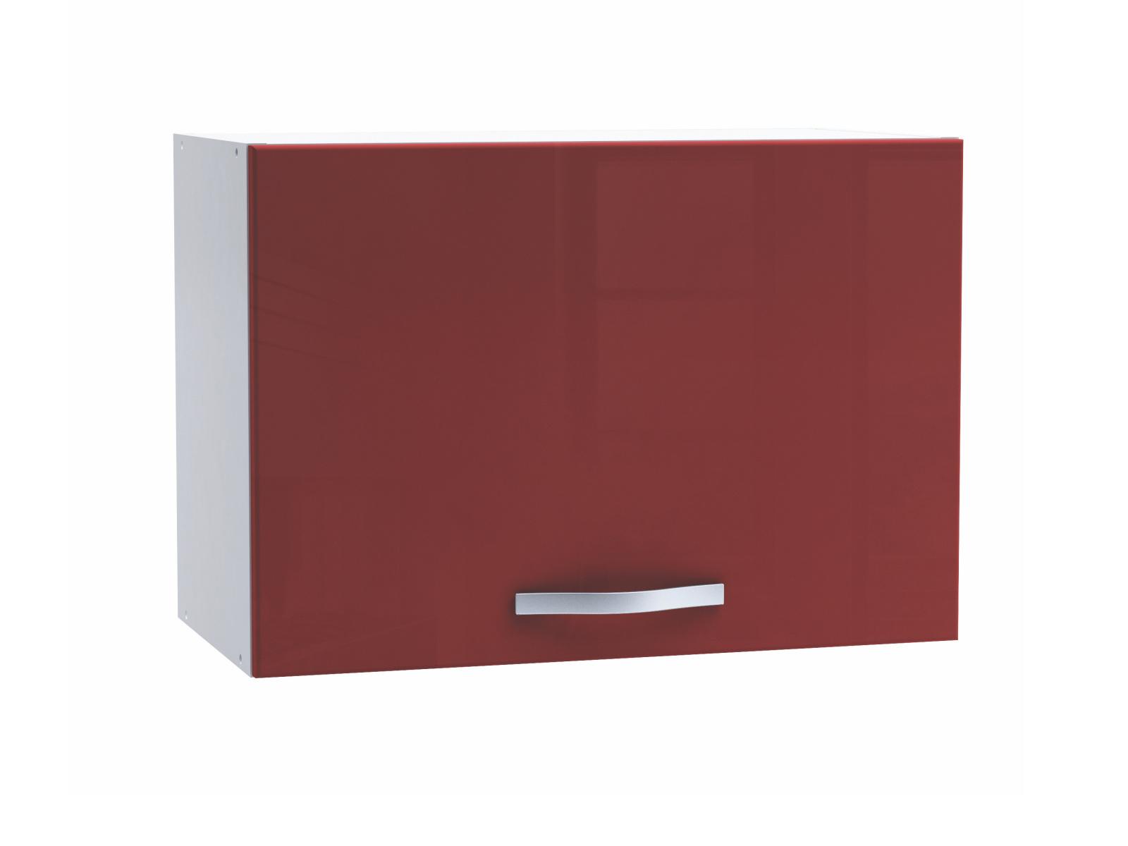 DEMEYERE CHERY, skříňka výklopná 60 cm, bílá/červený lesk
