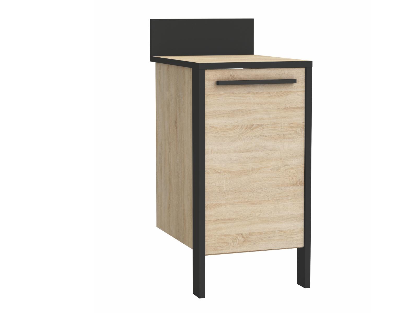 FEBRIK, skříňka dolní 40 cm, dub sonoma/černá