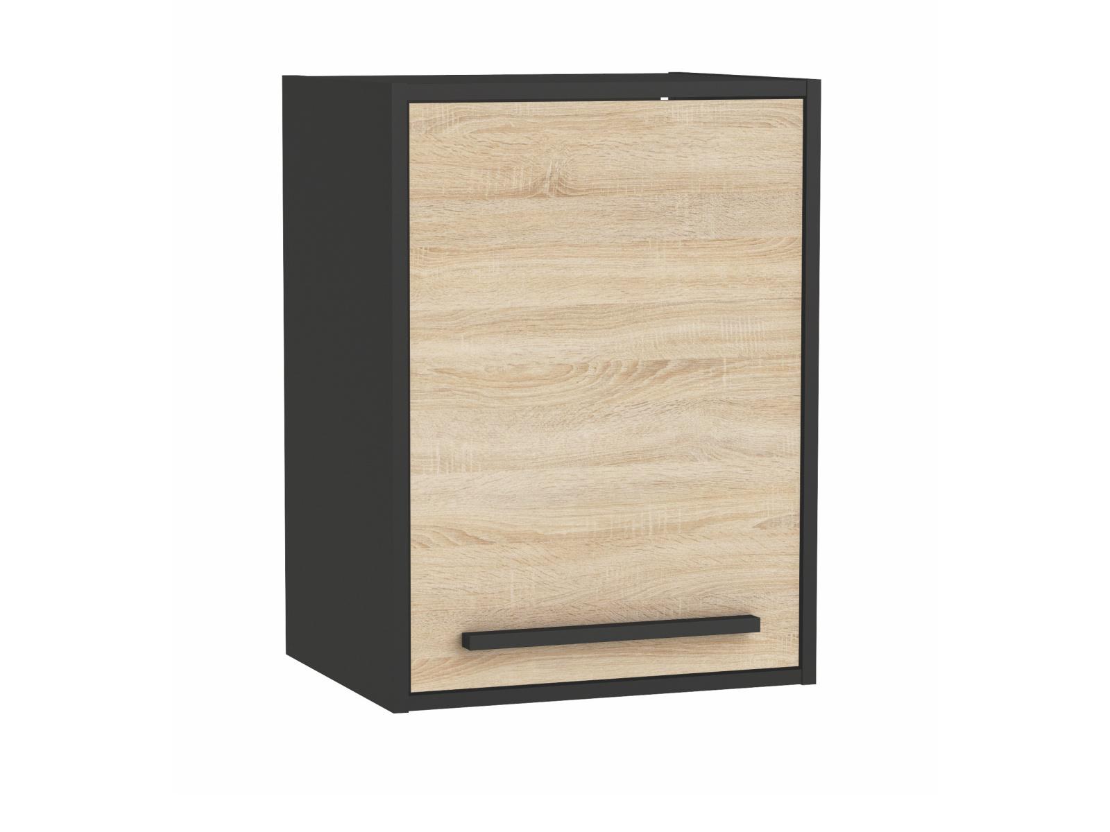 FEBRIK, skříňka horní 40 cm, dub sonoma/černá
