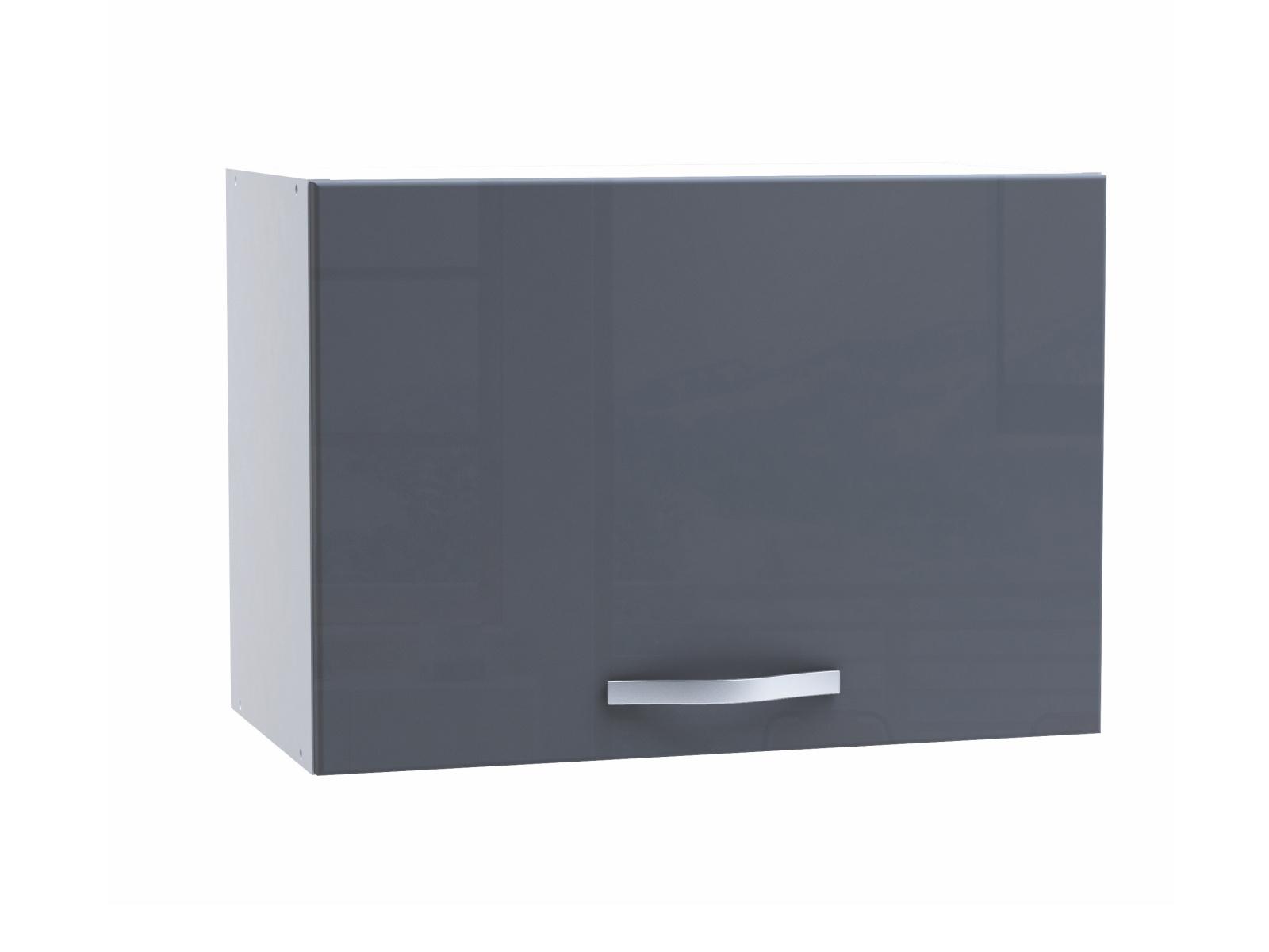 SPACY, skříňka výklopná 60 cm, bílá/šedý lesk