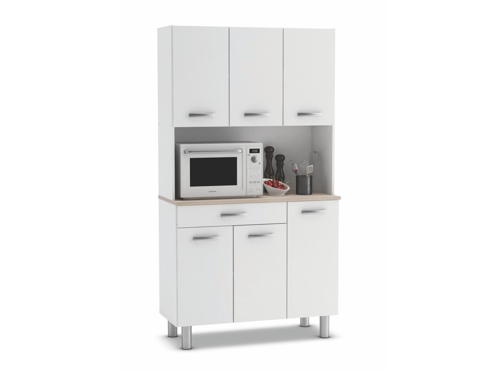PASTA, kuchyňská skříňka, bílá/akát, kuchyňská skříňka, bílá/akát