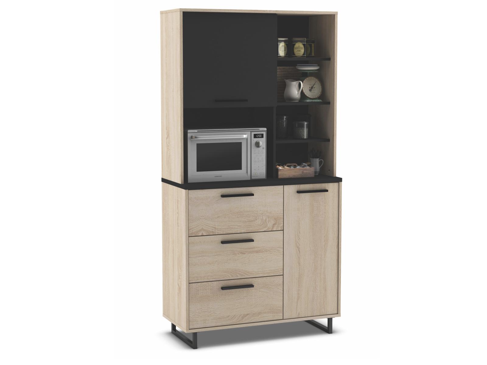 DEMEYERE INDAS, kuchyňská skříňka 2D3S, dub/černá