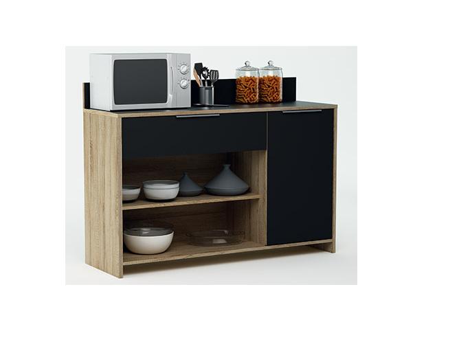 DEMEYERE MYKE, kuchyňská skříňka, dub/černá