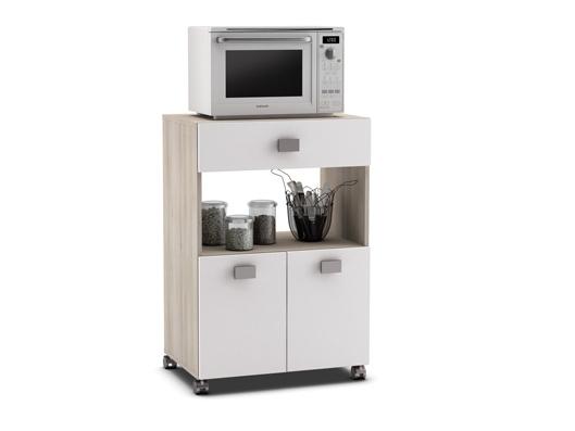 DEMEYERE RAMARIN, kuchyňská skříňka, bílá/akát