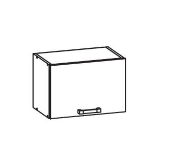 Smartshop EDAN horní skříňka GO50/36, korpus bílá alpská, dvířka béžová