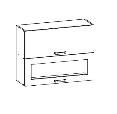 Smartshop EDAN horní skříňka G2O 80/72, korpus šedá grenola, dvířka bílá canadian
