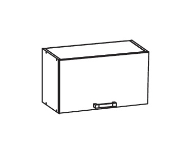 Smartshop TAFNE horní skříňka GO60/36, korpus bílá alpská, dvířka bílý lesk