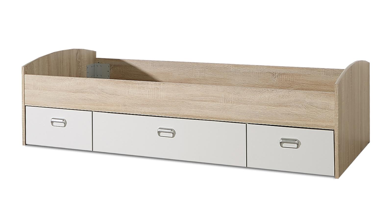 Forte MIA postel 90x200 cm, dub sonoma/bílá