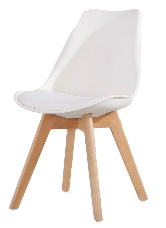 Jídelní židle CROSS, bílá