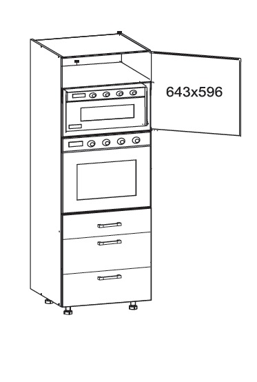 Smartshop TAFNE vysoká skříň DPS60/207 SMARTBOX pravá, korpus wenge, dvířka bílý lesk