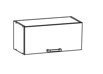 Smartshop TAFNE horní skříňka GO80/36, korpus wenge, dvířka bílý lesk