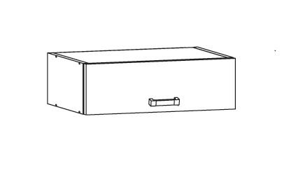 Smartshop TAPO PLUS horní skříňka NO60/23, korpus bílá alpská, dvířka bílý lesk