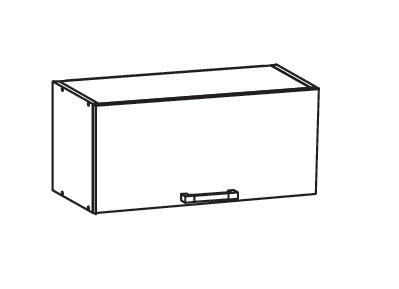 Smartshop TAPO PLUS horní skříňka GO80/36, korpus šedá grenola, dvířka grafit lesk