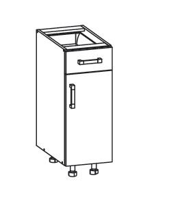 PESEN 2 dolní skříňka D1S 30 SAMBOX pravá, korpus bílá alpská, dvířka dub sonoma