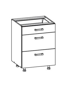 PESEN 2 dolní skříňka D3S 60 SAMBOX, korpus wenge, dvířka dub sonoma hnědý