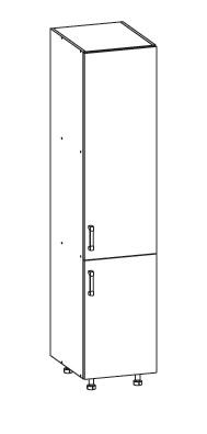 Smartshop PESEN 2 potravinová skříň D40/207 pravá, korpus wenge, dvířka dub sonoma
