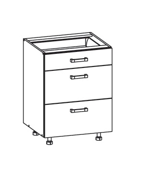 PESEN 2 dolní skříňka D3S 60 SAMBOX, korpus wenge, dvířka dub sonoma