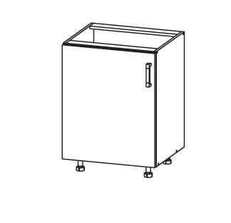 Smartshop PLATE dolní skříňka D60, korpus bílá alpská, dvířka dub bělený